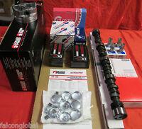 Chevy Marine 5.7l 350 Master Engine Kit Pistons Cam 1pc Gaskets Mercruiser Rings