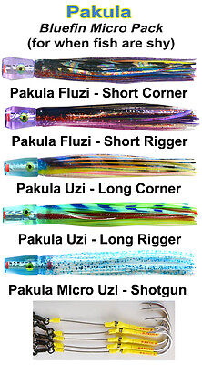 Rigged Pakula Bluefin Micro Lure Pack includes lure bag