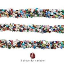 """1269AS Glass Bead Mix, Small 3mm to 6mm, 16"""" strand, $0.99"""