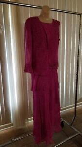 Vera Cristuna Fushia 3 piece silk suit