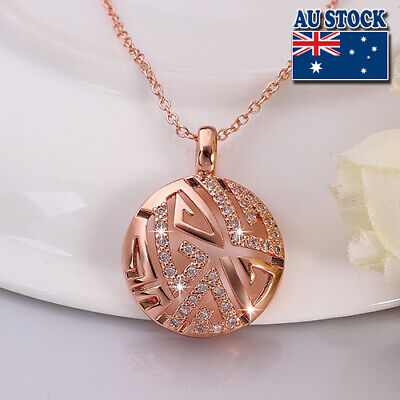 Wholesale 18K Rose Gold Filled Hollow CZ Crystal Round Chain Necklace