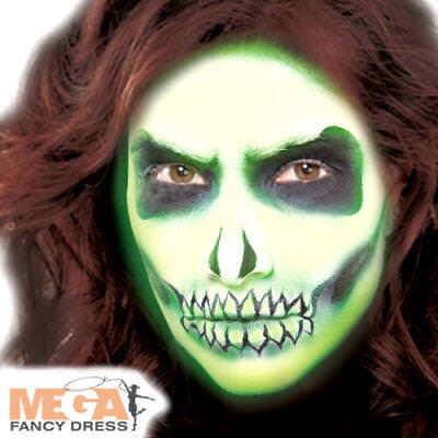 Capace Glow In The Dark Crema Make Up Halloween Spettrale Costume Pittura Viso-mostra Il Titolo Originale Rimozione Dell'Ostruzione