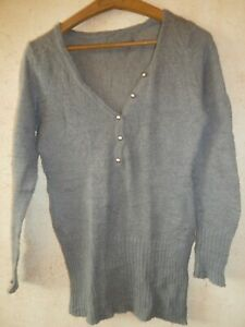 Pull NEUF gris taille 38