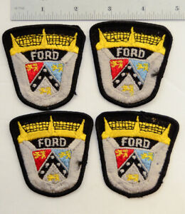 4-FORD-Shield-Embroidered-Sew-On-Cloth-Service-Jacket-Patch-Auto-Hot-Rod-Vtg