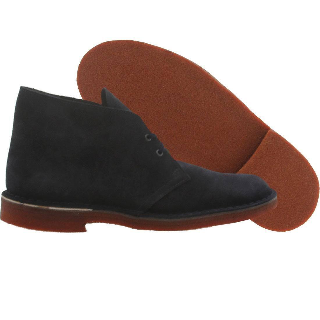 125.00 Clarks Men Desert Boot Suede (navy / brick / crepe) 105027