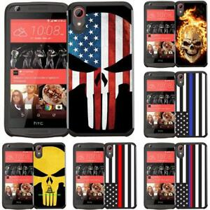 Funda-hibrida-Slim-delgada-linea-azul-EE-UU-Flag-Para-HTC-530-555-650-626-Desire-626S