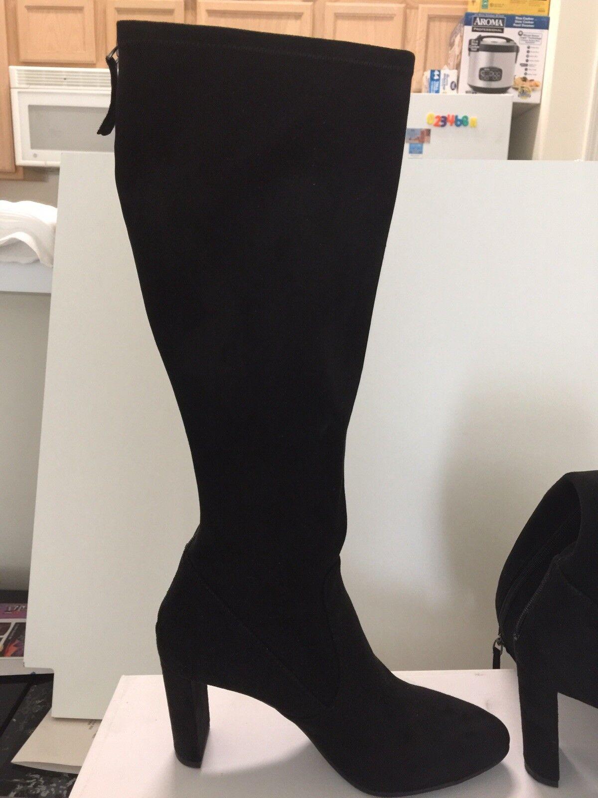 "Nine West ""Cropshop"" Black Black Black cotton Over the Knee Boots U.S. Size 8.5M 67f4c8"