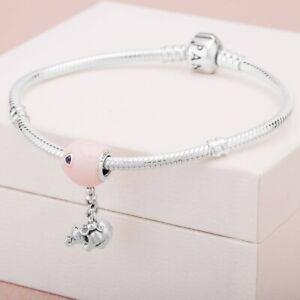 Details about Authentic PANDORA 925 Silver Elephant & Pink Balloon Charm  Pendant 797239EN160