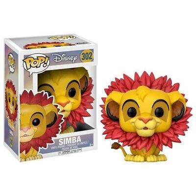 Funko POP! The Lion King: Simba With Leaf Mane - Stylized Vinyl Figure 302 NEW