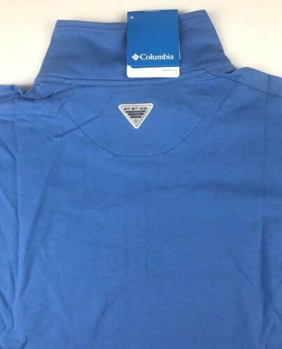 Details about  /Columbia PFG Mens XL Blue Harborside L//S 1//2 Zip Pullover Fleece Jacket NWT $65
