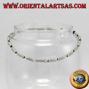 Bracelets De Cheville En Argent Avec Spirales Et 1 Sonnette Joaillerie