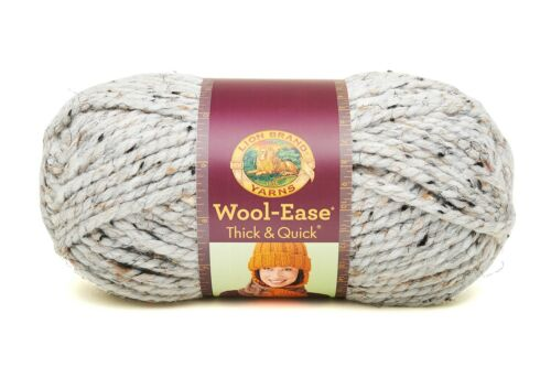 Lion Brand Wool-Ease Thick /& Quick Super Bulky Yarn Loom Knit Crochet