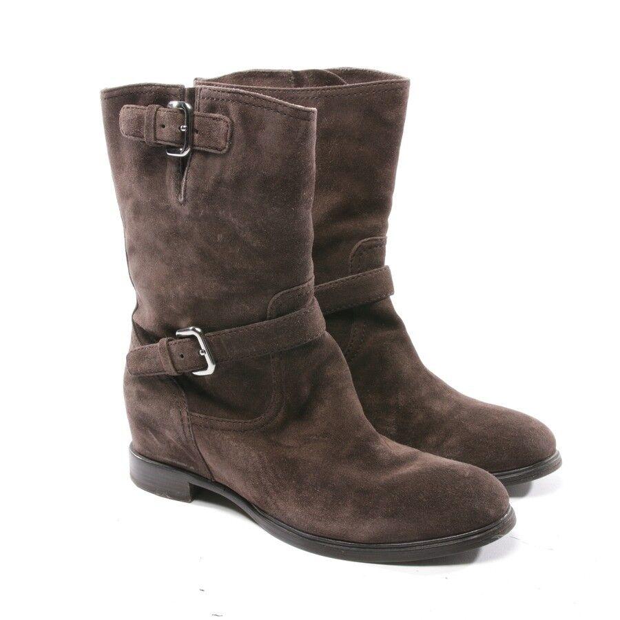 7761ecbf9 Prada Prada Prada Bottines Taille D 38,5 Marron Femmes Chaussures ...