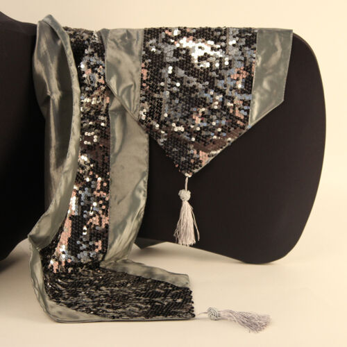 lit Xmas Party Mariage Sequin table runner Tassel décoratifs table