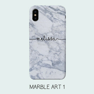 Custom Personalised Marble Print iPhone Case with Your Name. Choose from 3 Style