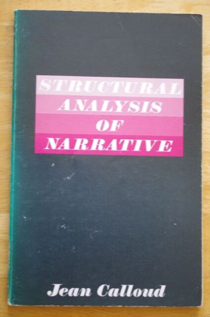 Structural Analysis of Narrative by Jean Calloud (Paperback, 1983)