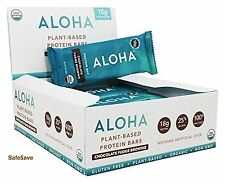 ALOHA Organic PLANT BASED PROTEIN Bar - Box of 12 Bars - CHOCOLATE FUDGE BROWNIE