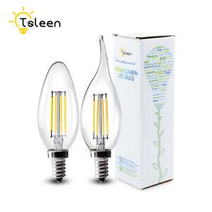 E12 E14 VIS FILAMENT LAMPE LED LUMIÈRE BOUGIE AMPOULE LUSTRE LUMIÈRES DÉCORATION