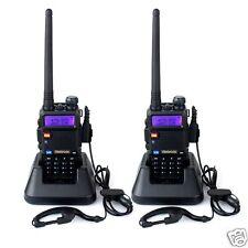 Walkie Talkies Profesional 5W 128 canales Banda Dual Doble Frecuencia Auricular