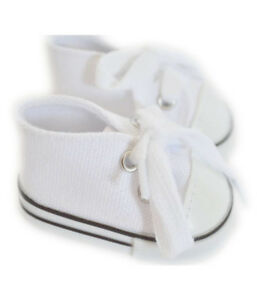 Doll-Clothes-14-5-034-Sneakers-Shoes-White-Made-For-14-5-034-AG-WELLIE-WISHER-DOLLS