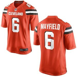 best website e1483 cc748 Details about Cleveland Browns W0men's #6 Baker Mayfield Jersey Orange All  Stitched X Large