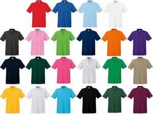 Pack Premium the of Cotton 100 Shirt Sports 5 Fruit Loom Polo Piqué fdUqAwB