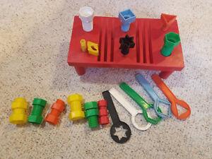 Vintage Child/'s Work Magnets Set of 3