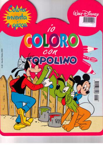 Io coloro con Topolino. Rosso - Walt Disney - Libro Nuovo in offerta!