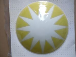 Plafoniera Bambini : Plafoniera per bambini tam axo light in vetro giallo e bianco