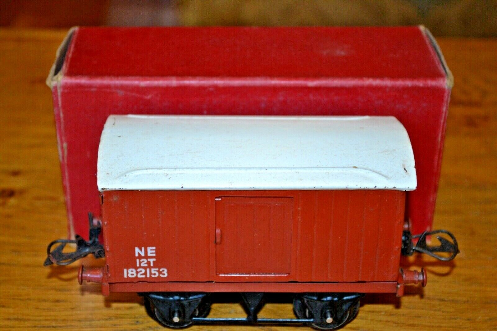 Vintage Boxed HORNBY SERIES Meccano O GAUGE No 1 Goods Van R162