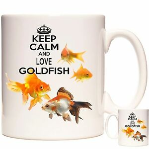 GOLDFISH-Mug-Keep-Calm-And-Love-Goldfish-Matching-Coaster-Available