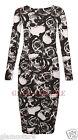 Femmes Robe Mi-longue Manches Longues Extensible Moulant Jersey Uni Maxi
