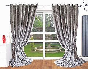 Crushed Velvet Curtains Eyelet Anneau