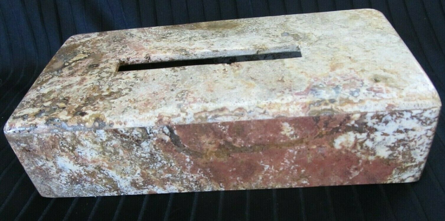 Vintage Dark Travertine Brown Natural Earth Tone Marble Solid Stone Tissue Cover
