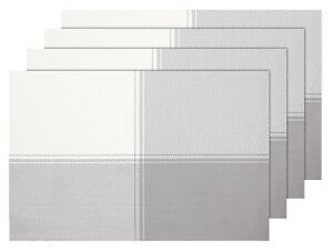 Lot-de-4-Set-de-table-en-PVC-tresse-45-x-30-cm-blanc-gris-decoration-sympa-TS-35