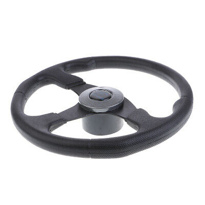"""Boat Steering wheel W// Adapter boats with a 3//4/"""" tapered key Marine Carbon Fiber"""