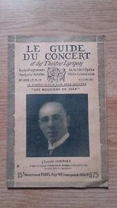 El-Guia-de-La-Concierto-Y-Las-Teatro-Letra-Lazare-Saminsky-N-32-1928