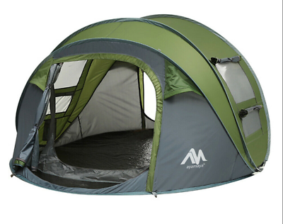 4 Person Camping Hiking Instant Pop Up Family Tent Outdoor Beach Travel Shelter | eBay