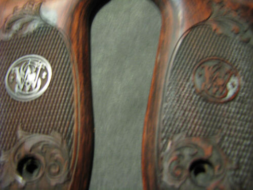 Smith Wesson .22LR VICTORY Chkrd//Floral Rosewood Pistol Grips w//S/&W Logo NEW!