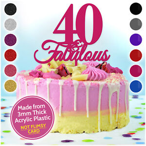 PERSONALISED-40-Forty-and-Fabulous-Custom-Topper-for-ANY-AGE-Birthday-Cake