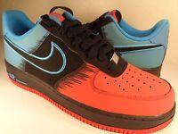 Nike Air Force 1 Light Crimson Blue Black Spider SZ 7.5 // Womens 9 (488298-615)