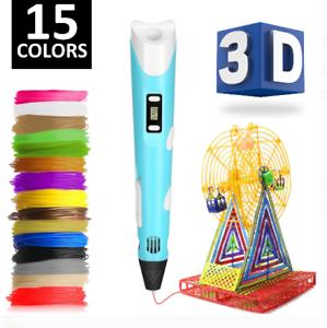 3D Printing Pen Drawing Crafting Modeling PLA Art Doodle Printer Color Filament