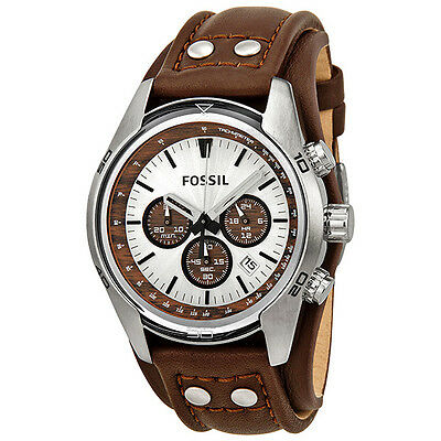 Fossil Chronograph Cuff Leather Mens Watch CH2565