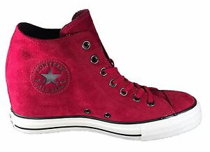 Converse Chuck Taylor All Star Lux Wedge Mid Women s Shoes Red ... 823c3ab74