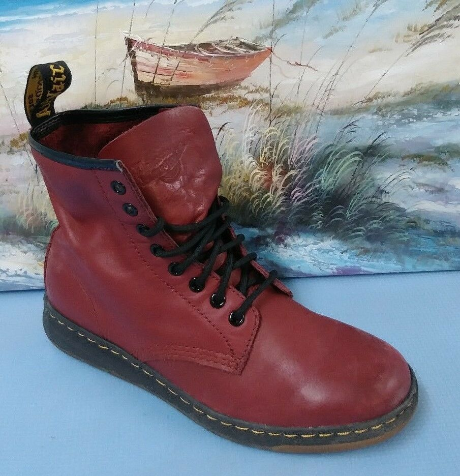 Dr. Martens Newton rot rot rot Genuine Leather Classic Stiefel Sz 8M f99b3a
