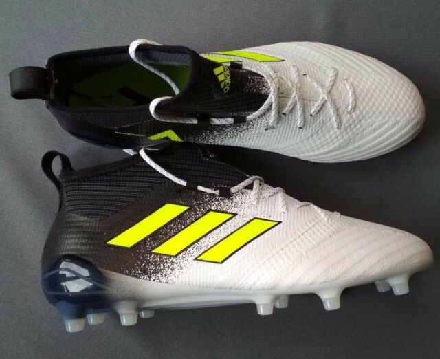 promo code e4683 81fb1 adidas Ace 17.1 FG Soccer Cleats White Safety Yellow Black S77035 Size8us