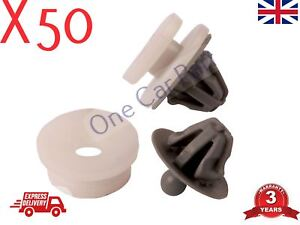 50x-RENAULT-TRAFIC-DOOR-CARD-PANEL-TRIM-CLIPS-INTERIOR-MK2-TRAFFIC-Grey