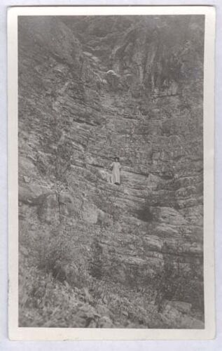 191014 RPPC ROCK CLIMBERS IN STREET CLOTHES 2 OLD REAL PHOTO POSTCARDS PC5893