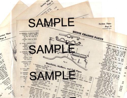 1950 1951 1952 1953 1954 NASH RAMBLER BODY PARTS LIST FRAME CRASH SHEETS