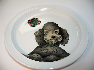 Silver Poodle Dog Plate 8.5 inches PrintRun